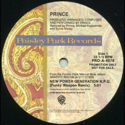 "Prince New Power Generation Promo12"""" Single"