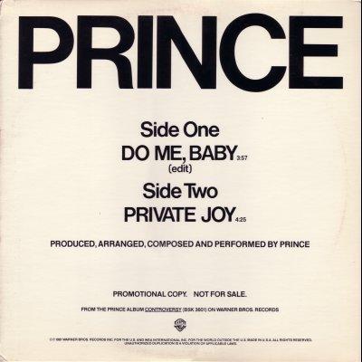 "Prince Do Me, Baby Promo12"""" Single"