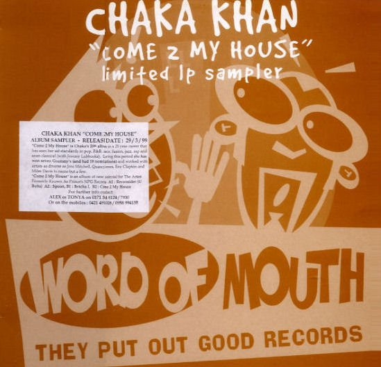 Chaka Khan Come 2 My House - Sampler PromoLP