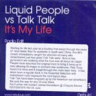 Liquid People Vs Talk Talk - It's My Life - UK Promo CD Single