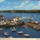 Customs House Quay, Falmouth, Cornwall postcard John Hinde 1995  Boats
