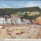 The Beach, Sidmouth Devon Postcard Harvey Barton  1977