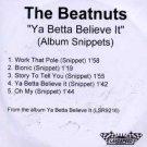 The Beatnuts - Ya Better Believe It - UK Promo CD Single