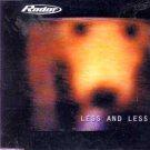 Radar - Less and Less - UK CD Single