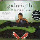 Gabrielle - Because Of You - UK CD Single