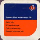 Hysterix - Must Be The Music - UK  CD Single