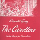 The Carollers: 12 Carols for piano solos Song Book by Donald Gray