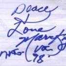 Marva King - Autograph - Marva King - UK   Memorabillia -   m