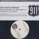 "911 - More Than A Woman - UK Promo 12"" Single - Dave Lee's 54 Mix / Radio Edit"