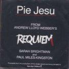 """Sarah Brightman / Paul Miles-Kingston - Pie Jesu - UK 7"""" Single - WEBBER1 ex/m"""