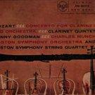 Mozart Concerto For Clarinet & Orchestra - Benny Goodman - UK Vinyl LP
