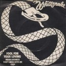 """Whitesnake - Fool For Your Loving - UK 7"""" Single - BP352 g/ex"""