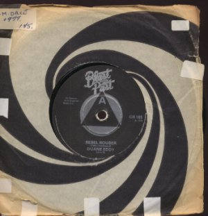 "Duane Eddy - Rebel Rouser - UK 7"" Single - CR185 f/ex"