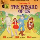 """Walt Disney - The Wizard Of Oz Book And Record - UK 12"""" Single - LLP347 ex-/m"""