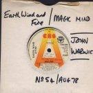 "Earth, Wind & Fire - Magic Mind - UK 7"" Single - SCBS6490 vg/vg"