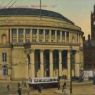Central Library and Cenotaph Manchester Postcard