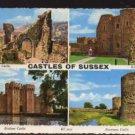 Castles Of Sussex 4 Views  Postcard -  Valentine