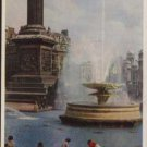 TRAFALGAR SQUARE  A Fountain Scene London  Fry & Co Postcard  Topo