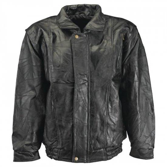 L - Maxam® Brand Italian Mosaic� Design Genuine Top Grain Lambskin Leather Jacket