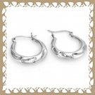 Trendy 925 Sterling Silver Hoop Earrings