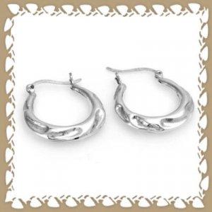 Trendy 925 Sterling Silver Hoop Earrings