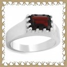 Beautifully Crafted Genuine Garnet Ring Sz 11