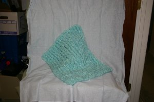 Minty green baby afghan