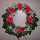 Spring Pink Rose Wreath