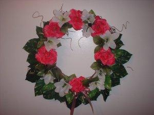 Spring Pink Rose Wreath