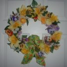 Yellow Mixed Pansy Wreath