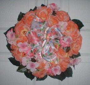 Minni Pink Rose Wreath