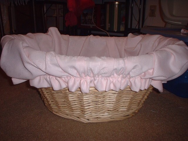 Baby Pink Lined Basket