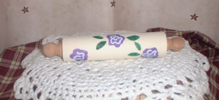 Mini Purple Flower Rolling Pin