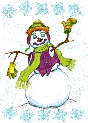 Snowman Cards-8 box set