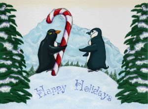 Penguin Greeting