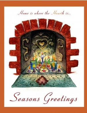 Fireplace- Seasons Greetings - 8 box set
