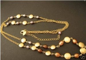"Chai - Genuine Fresh Water Pearl necklace 36""-39"""