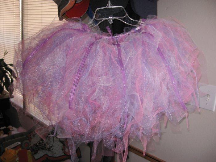 pink/purple/white tutu with rhinestones