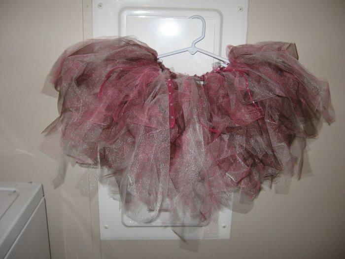 brwn/white/pink tutu