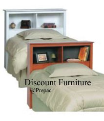 TWIN BED AND HEADBOARD IN 5 COLORS BY PREPAC