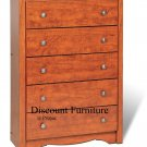 5 DRAWER CHERRY CHEST BY PREPAC
