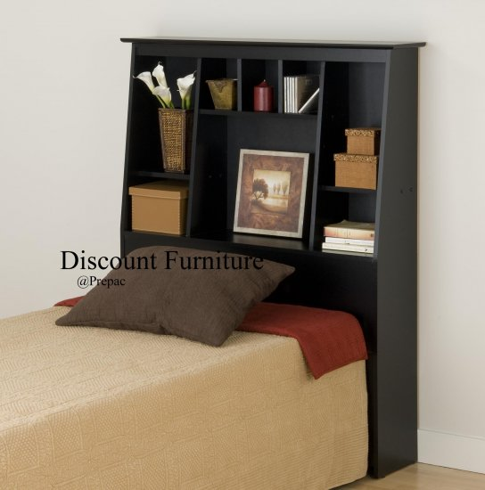 TALL/SLANT HEADBOARD FOR TWIN BED PREPAC BLACK COLOR