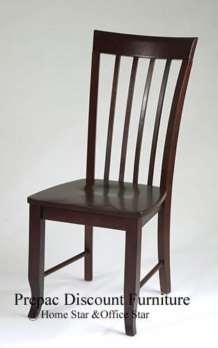 SOLID WOOD MERLOT DESK CHAIR WINE FINISH