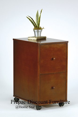SOLID WOOD 2 DRAWER FILE CABINET IN WALNUT FINISH MADISON COLLECTION