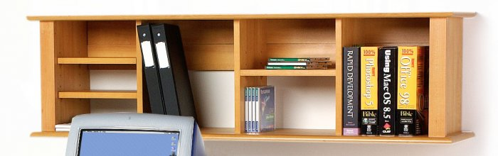 MAPLE WALL  HUTCH  FOR DESK/BOOKCASE/CHEST WALL MOUNTED