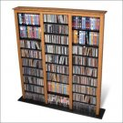 OAK CD/DVD/VHS MEDIA STORAGE BARRISTER TOWER