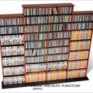 CHERRY  QUAD CD/DVD/VHS MEDIA STORAGE SHELVES RACK UNIT