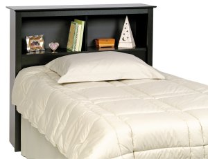 BLACK SONOMA HEADBOARD FOR TWIN MATES BED PREPAC