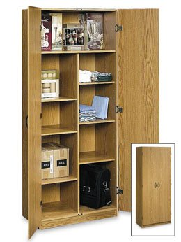 29 In Wide X 71 In Pantry Storage Cabinet Oak Color