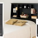 TALL BLACK 12 DRAWER FULL MATES BEDROOM SET